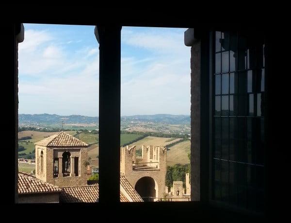 Splendida vista dal castello